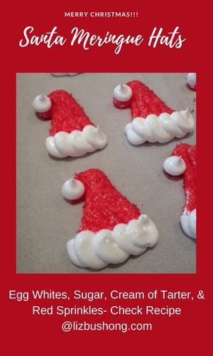 Merry Christmas!!! Santa Meringue Hats lizbushong.com